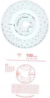 Diagrammscheiben 100KM/H 24H AUTOMATIC