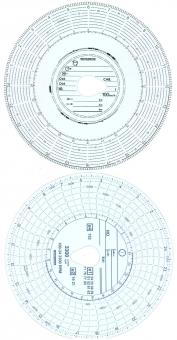 Diagrammscheiben 100KM/H 3300U/MIN 24H AUTOMATIC