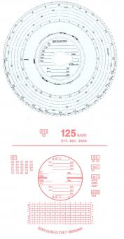 Diagrammscheiben 125KM/H 24H AUTOMATIC