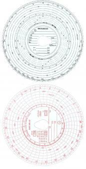 Diagrammscheiben 125KM/H 3300U/MIN 24H KOMBI
