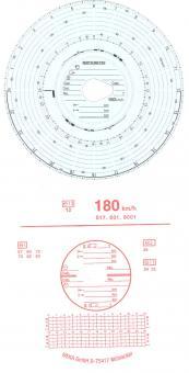Diagrammscheiben 180KM/H 24H AUTOMATIC